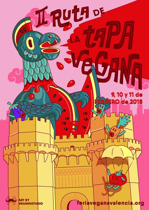 Poster Ruta Tapa Vegana Febrero 2018
